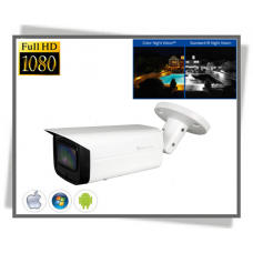 X-Security Starlight 2Megapixel Full HD Farve Nat IP Bullet Kamera With Audio