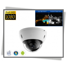 X-Security Starlight 2Megapixel Full HD Farve Nat IP Dome Kamera With Audio