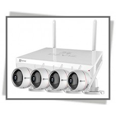 4 Channel NVR ezWireLess Full HD Sæt Med 2mp 4stk Kamera og 1TB Hard Drive